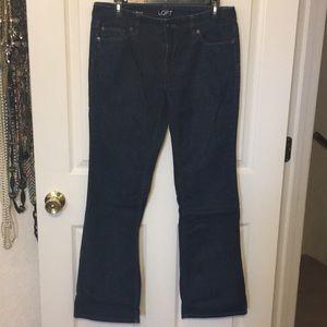 Ann Taylor LOFT curvy bootcut jeans-gently worn!